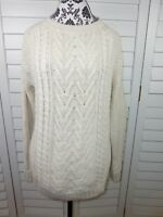 BDG Cable Knit Sweater Womens Medium Brown Beige Coat Casual Ladies Thick Winter