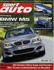 sport auto 5/04 2004 Aston Martin DB9 BMW M5 Alfa GT 3.2 911 GT2 Impreza WRX STi