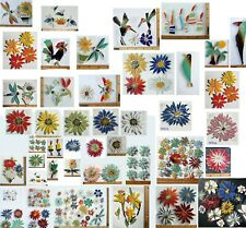 """Broken China Mosaic Tiles, Daisy Size / Color Variations 1.5"""" """" 3"""" Blue, Red"""