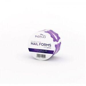INDIGO Nail Lab FORMS 200 & 500 pcs Gel Polish Builder gel Distributor UK