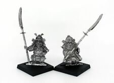 Samurai Dwarf Armoured Naginata Warhammer Fantasy Armies 28mm Unpainted Wargames