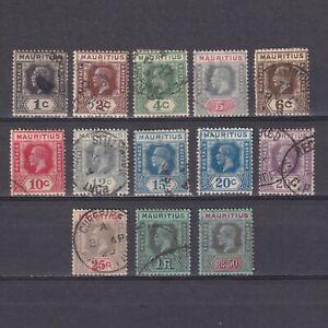 MAURITIUS 1921, SG# 223-239, CV £20, Die II, part set, Used