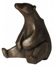 More details for frith sculptures sitting polar bear | cold cast bronze art deco ornament at002