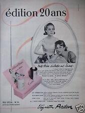 PUBLICITÉ 1960 ELIZABETH ARDEN ÉDITION 20 ANS LAIT LOTION - ADVERTISING