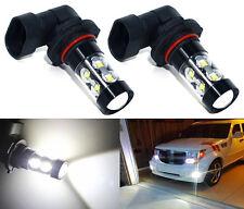 2x 50W H10 9145 High Power LED CREE 6000K Super White Fog Lights Bulbs