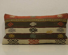 12x24 lumbar pillow organic wool lumbar pillow case kilim lumbar pillow large