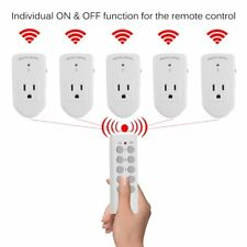 5X Wireless Remote Control AC Power Outlet Plug Light Socket Compact Switch APP