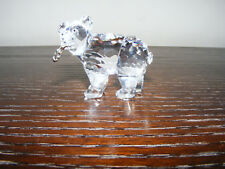 "Swarovski  Grizzly   Bear  Cub  With  Salmon  Ht. 1.3/4""  Swan  Logo  (Retired)"