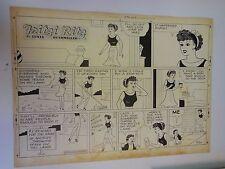 Fritzi Ritz Original Comic Art Page Ernie Bushmiller 1955