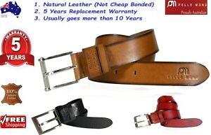 New Genuine Full Grain Real Leather Belt Mens Jeans AUSTRALIAN Premium Quality