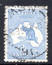 Australia: 1913 Roo 6d SG 9 used