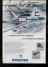 BOEING 707 AMERICA'S FIRST JET TRANSPORT 1954 AIR CONDITIONED BY STRATOS AD