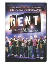 Rent: Filmed Live on Broadway [WS] (2009, REGION 1 DVD New) WS