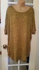 NEW WOMEN'S blouse BOBBIE BROOKS plus SIZE 2X  gold  wing Sleeve