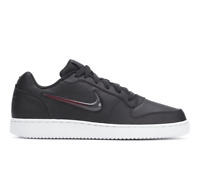 Men's Nike Ebernon Low Premium casual sneaker black oil grey/purple swoosh