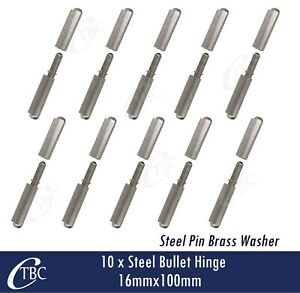 10x Steel Bullet Hinge Steel Pin 16mmx 100mm Weld  Door Trailer Tailgate Toolbox