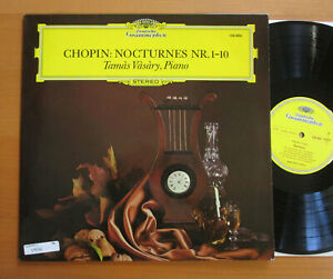DG 136 486 Chopin Nocturnes Nr. 1-10 Tamas Vasary NEAR MINT German Stereo LP
