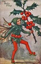 Flower Fairies: Holly Fairy Vintage Print c 1930 by Cicely Mary Barker