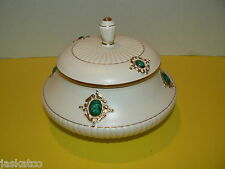 KB NY Numbered Signed Covered Lidded Bowl Candy Dish KBNY Italy Gold Trim