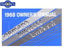1968 68 Camaro Chevelle Chevy II Nova Owners Manual New