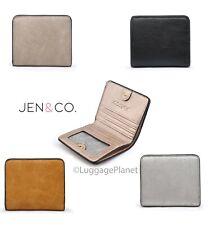 JEN & CO Kye RFID Snap Closure ID Credit Card Wallet Vegan Leather WL1906