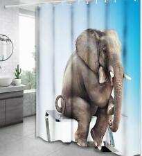 Shower Curtain Bathroom Bath Shower Decor Elephant Pattern Painting Art Design