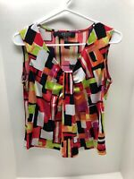 Kasper Separates Sleeveless Women's Size Small Colorful Top Blouse Shirt