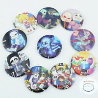 Game Undertale Sans Papyrus Badges Set of 10 Pc Button Pins PVC Brooches Gift