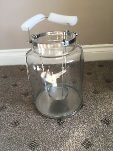 WAITROSE GLASS JAR LANTERN LARGE SILVER New Boxed