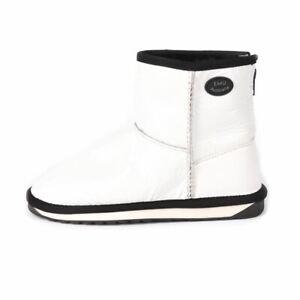EMU AUSTRALIA Boots White Cracked Leather Size 36 / UK 3 / US 5 GS 119
