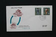 D9987 JAPAN RYUKYU ISLANDS 1961 JAL first flight between Naha & Osaka