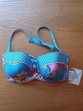 BNWT Floozie Chain Rope Ditsy Bikini Top 34C