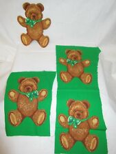 Saint Patrick's Day Brown Bears Fabric Appliques Iron On