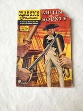 Classics Illustrated Mutiny On The Bounty 1950's No.100  Nordhoff & Hall