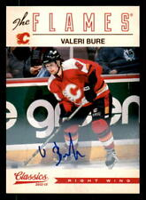 2012-13 Classics Signatures Autographs #54 Valeri Bure Flames Auto (ref 31965)
