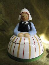boite à poudre porcelaine allemande art deco paysanne Sitzendorf (powder box)