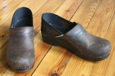 Dansko 39 8.5 9 Brown Leather Classic Professional Clogs