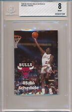 1985-86 Chicago Bulls Pocket Schedule Jordan First Schedule Cover BGS 8 #1396