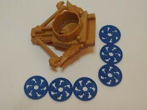 Imaginext Lions Den Castle Catapult Launcher With 6 Blue Discs