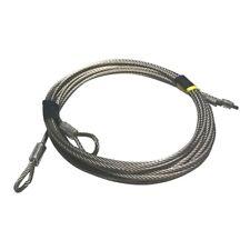 Garage Door Torsion Spring Cables Stainless Steel 8 FT Doors ( 7x19 ) (Pair)
