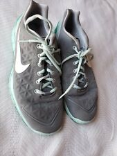 NIKE FREE Women's Running Shoes Size 10 Color Gray and Turquoise #487789-007