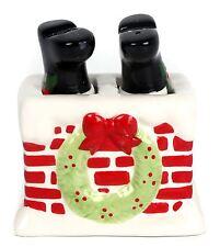 Ceramic Father Christmas Table Cruet Novelty Salt And Pepper Set