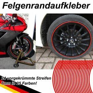 PREM. Felgenrandaufkleber Felgen Aufkleber Motorrad Auto Felgenringe Felgenband