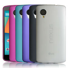 5-Pack Soft Touch Matte Flexible TPU Case for LG Nexus 5 - Ultra Thin 2014 NEW