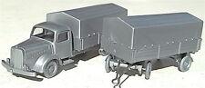 Plataformas Mercedes 5000 Tren de carretera plata IMU H0 1:87 å