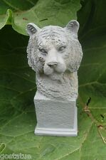 Latex tiger on pedestal mold plaster cement casting garden mould