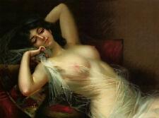 Paris Apt Chic NUDE WOMAN PRINT VICTORIAN WHOREHOUSE Lady -Shabby Decor - LOVELY