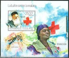 TOGO 2013 BATTLE AGAINST MALARIA HENRI DUNANT RED CROSS   SOUVENIR SHEET MINT NH