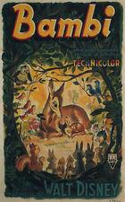 Bambi (1942) Dibujos Animados Disney Cartel de Película Estampado