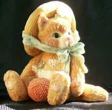 Enesco Calico Kittens 627968 Tan Kitten With Yarn Figurine I'm All Fur You 1992
